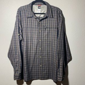THENORTHFACE Mens Large RollUp Sleeve Button Down